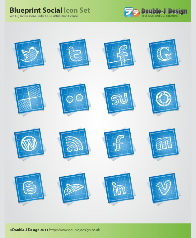 16 free blueprint social media icons css gallery free wordpress 16 free blueprint social media icons malvernweather Gallery