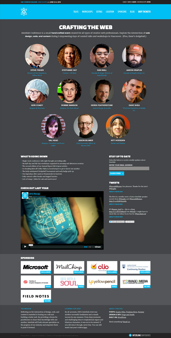 Interlink Web Design Conference Vancouver Bc Canada Css Gallery Free Wordpress Themes And Free Icon Sets