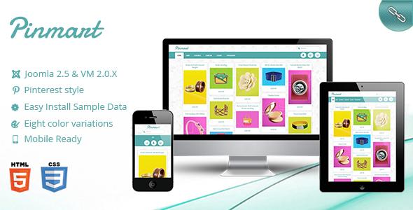 Pinmart – Pinterest Virtuemart Responsive template