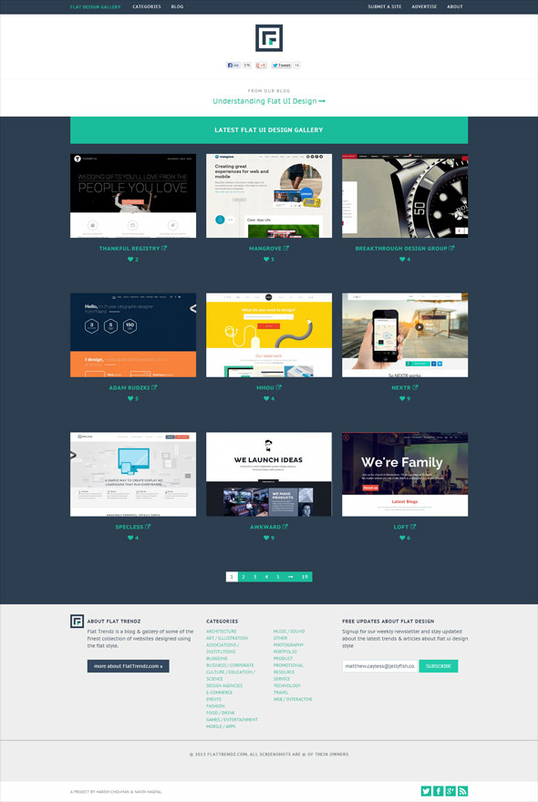 Flat UI Design Gallery | CSS Gallery, Free Wordpress themes and ...