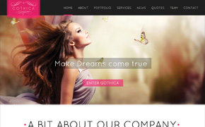 Gothica – A one Page WordPress Theme in Goth Style