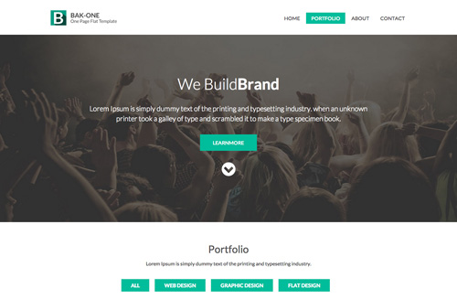Bak One Corporate Responsive HTML template