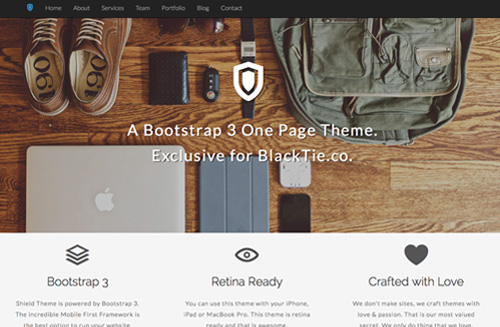 Shield One Page Free Bootstrap Theme