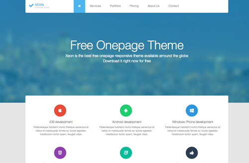 Xeon One Page Template