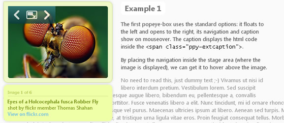 jQuery.popeye 2,0