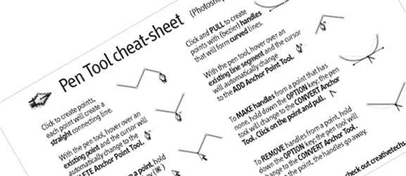 Creative Tip: Adobe Pen Tool Cheatsheet