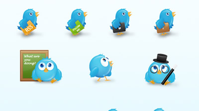 Birdies: Cute Free Twitter Icons For Your Blog