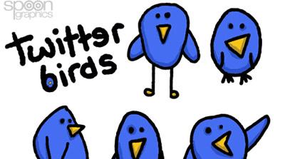8 Free Cute & Simple Twitter Bird Vector Graphics