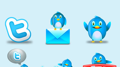 Twitter Icon Set - Fluzzy