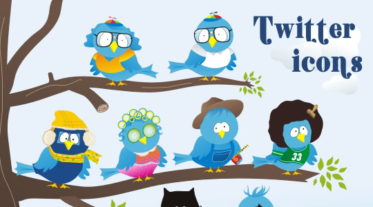 Free twitter icon set by Pink Moustache
