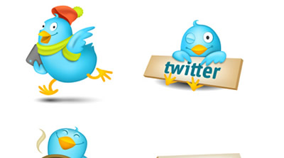 Cute Tweeters Icon Set