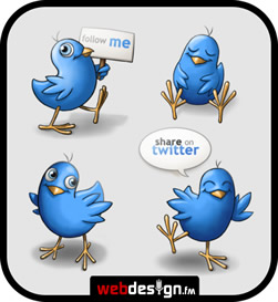 Free Twitter Icons – Happy Birds