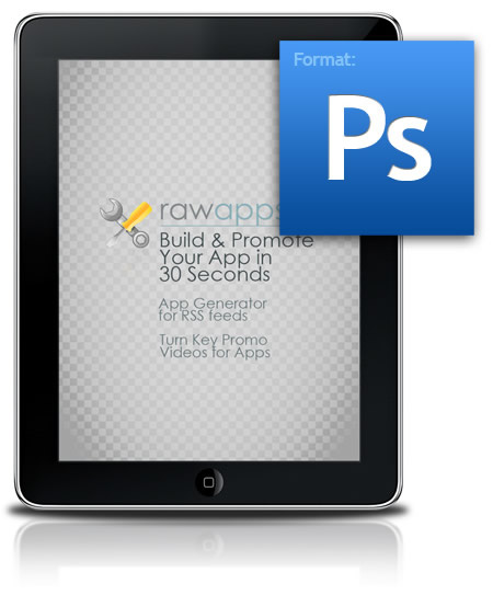ipad3 20 Free Phone and iPad GUI PSD and vector templates for web designers