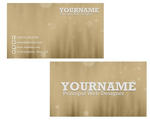 bokeh-business-card