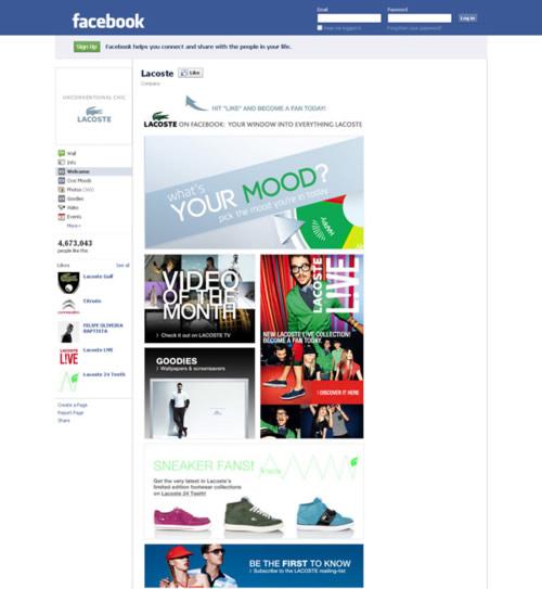 22 lacoste facebook page
