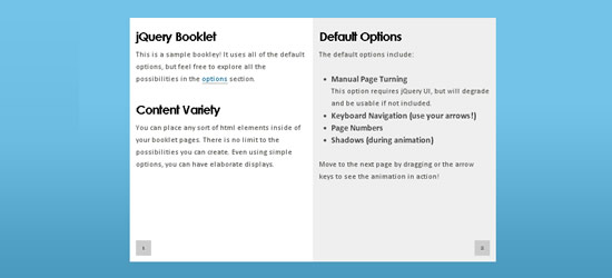 Booklet - jQuery Plugin
