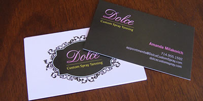 Dolce Custom Spray Tanning Businesscard