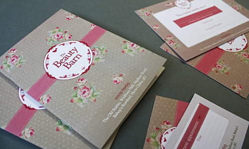 Beauty Barn Brochure and invites