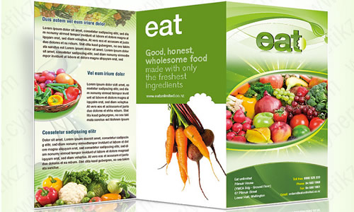 Brochure Template Design for a catering company