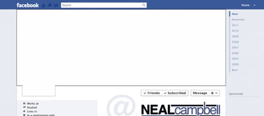 Facebook Timeline Cover Template PSD