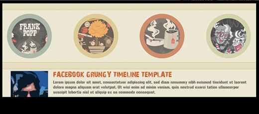 Grunge Facebook Timeline Cover Template