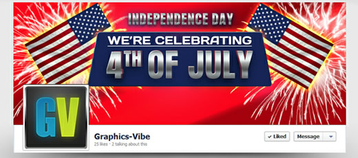Free Independence Day Facebook Cover