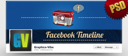 Free Retro Facebook Cover (PSD)