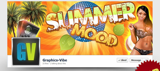 Free Summer Mood Facebook Cover (PSD)