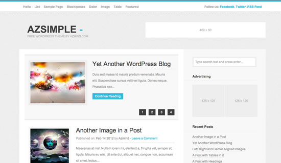 Azsimple Free wordpress theme