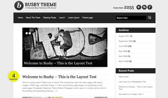 Busby WordPress theme
