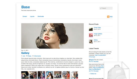 Base free wordpress theme