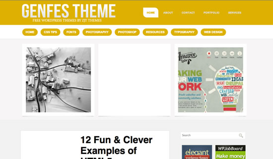 Genfes Free wordpress theme