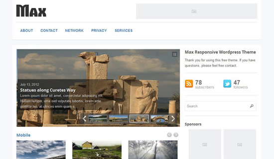 Max Responsive WordPress Magazine Theme