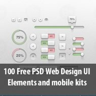 100 Free PSD Web Design UI Elements and mobile kits