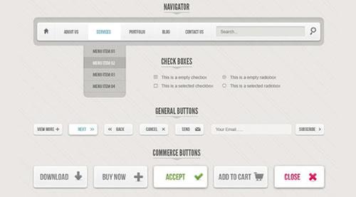 Livre Classic Grey Web UI