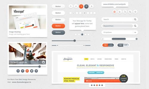 Freebies - Kit UI limpo e utilizável