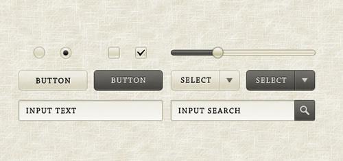 Sépia elementos GUI