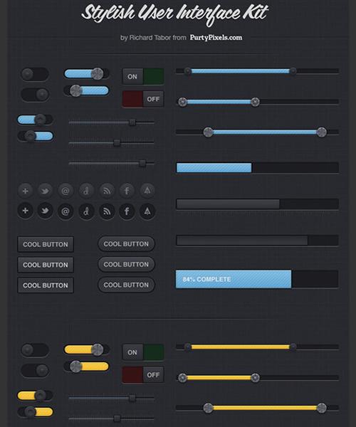 Free download: Kit de interface de usuário elegante e exclusiva (PSD)