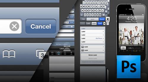 iPhone 4 GUI PSD