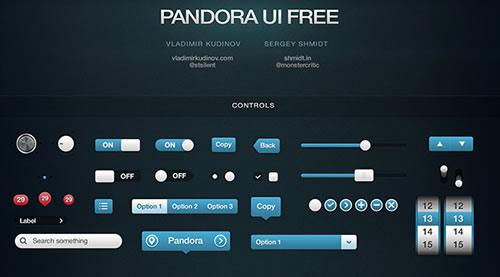 Pandora UI gratuito para iOS - Usuário Interface Pack