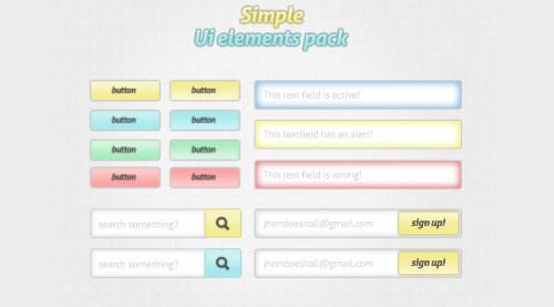 Pacote elemento simples interface do usuário