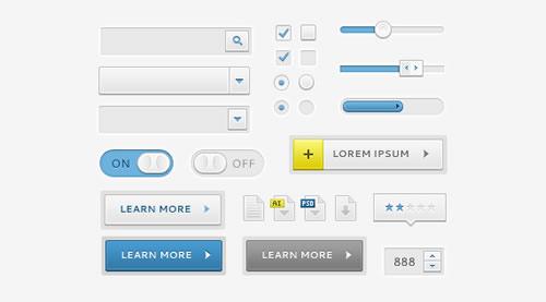 Sleek elementos da interface