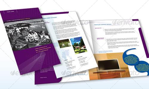 Mercadotecnia publicidad y dise o 35 premium brochure for 4 page brochure design templates