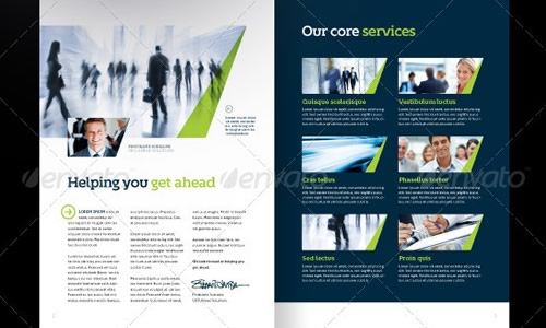 And Premium Corporate Brochure Template Jeppefmtk - Business brochure template