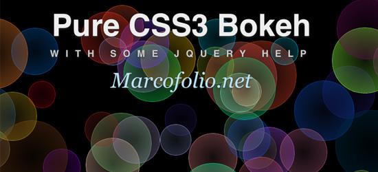 Efeito bokeh usando CSS3