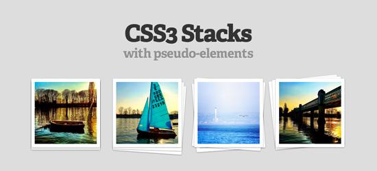 CSS3 Pilhas com pseudo-elementos