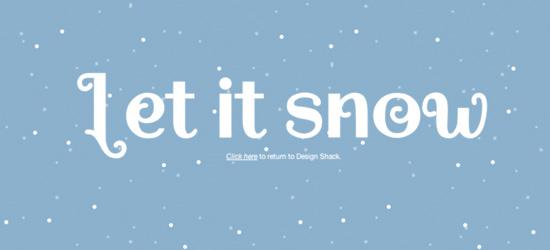Efeitos de neve usando CSS3