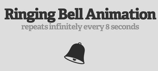 Tocando animação sino usando CSS3