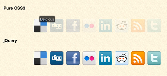 Enfeite ícones de mídia social utilizando CSS3