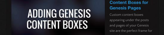 Como criar Caixas de conteúdo para páginas de Gênesis